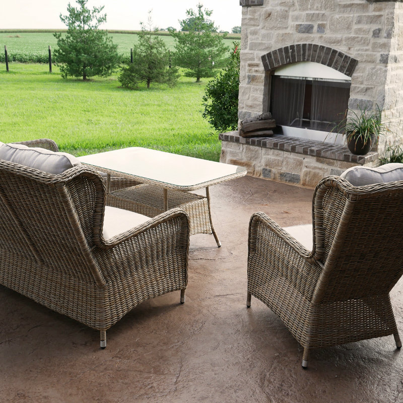 Charleston Way 5-Piece Outdoor Wicker Patio Sofa Set With Table