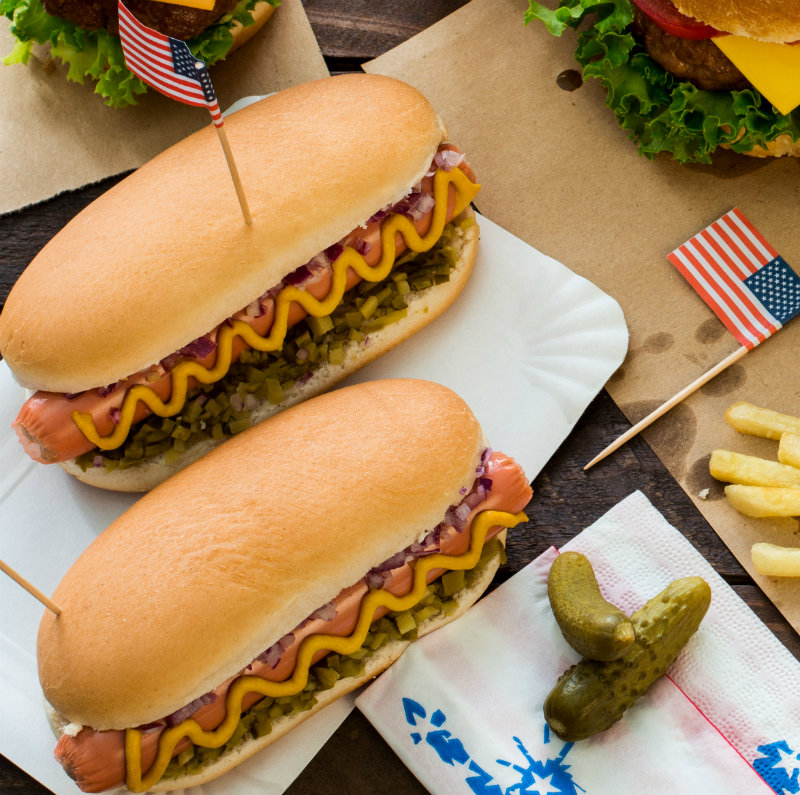 Hot Dogs for July 4th