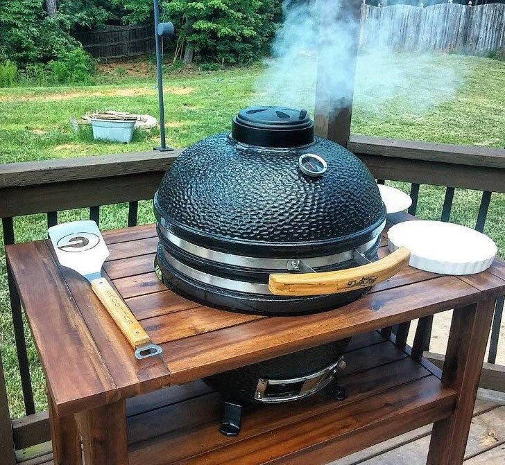 Duluth Forge Kamado Grill with Table